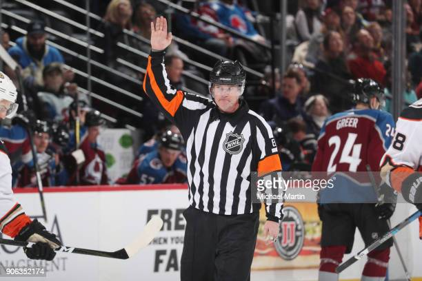 Referee Dave Jackson was recognized for becoming only the 6th referee in league history to officiate 1500 games during the Colorado Avalanche against...