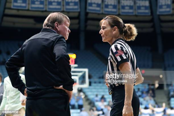 Referee Dee Kantner and UNC assistant coach Andrew Calder The University of North Carolina Tar Heels hosted the Ramblin' Wreck from Georgia Tech...