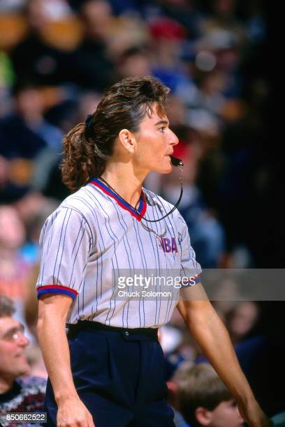 Referee Dee Kantner officiates a game at Madison Square Garden in New York new York circa 1998 NOTE TO USER User expressly acknowledges and agrees...