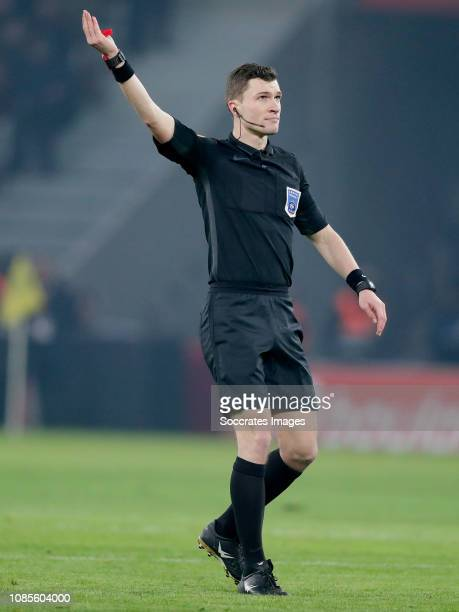 Referee Delajod Willy during the French League 1 match between Lille v Amiens SC at the Stade Pierre Mauroy on January 18 2019 in Lille France