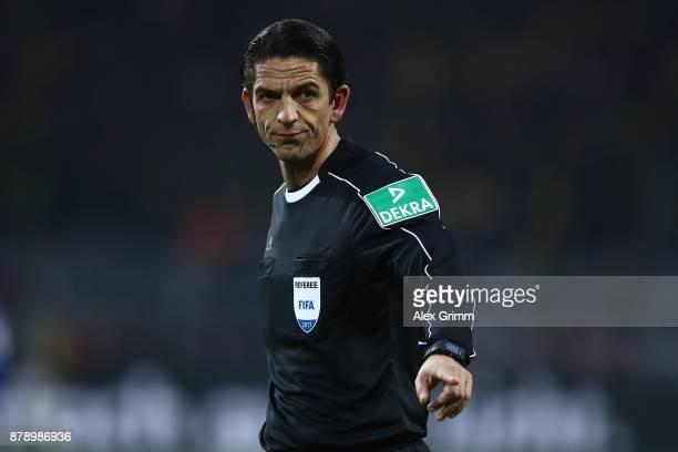 Referee Deniz Aytekin during the Bundesliga match between Borussia Dortmund and FC Schalke 04 at Signal Iduna Park on November 25 2017 in Dortmund...