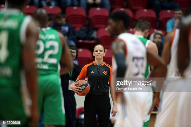 Referee during the 2016/2017 Turkish Airlines EuroLeague Regular Season Round 24 game between Unics Kazan v Anadolu Efes Istanbul at Basket Hall...
