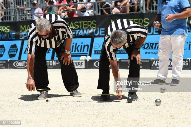 Referee during the Masters of Petanque 2017 on July 13 2017 in RomanssurIsere France