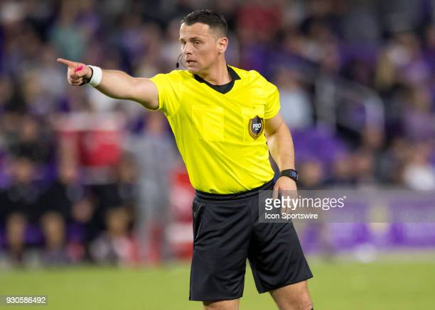 Referee during the MLS Soccer match between Orlando City SC and Minnesota United FC on March 10th 2018 at Orlando City Stadium in Orlando FL