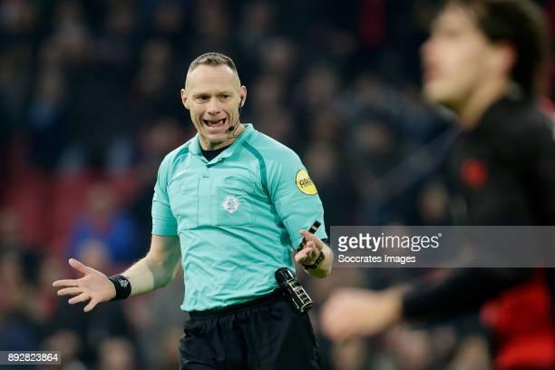 referee Ed Janssen during the Dutch Eredivisie match between Ajax v Excelsior at the Johan Cruijff Arena on December 14 2017 in Amsterdam Netherlands
