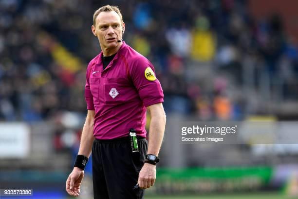 referee Ed Janssen during the Dutch Eredivisie match between NAC Breda v Roda JC at the Rat Verlegh Stadium on March 18 2018 in Breda Netherlands