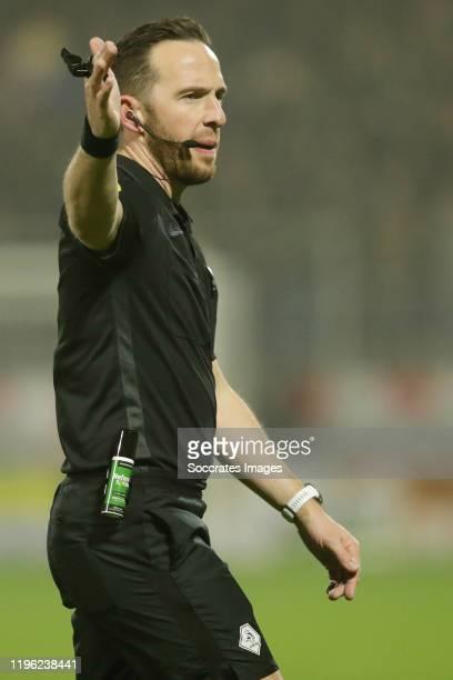 Referee Edwin van de Graaf during the Dutch Eredivisie match between RKC Waalwijk v VVV-Venlo at the Mandemakers Stadium on January 25, 2020 in...