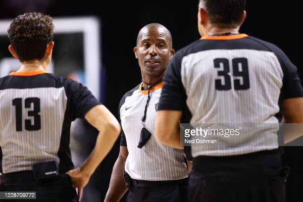Referee Eric Brewton during the game between the Las Vegas Aces and Connecticut Sun in Game Three of the Semifinals of the 2020 WNBA Playoffs on...
