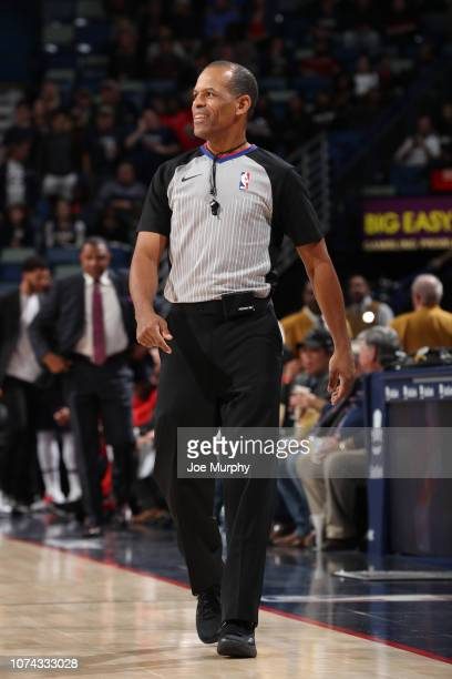 Referee Eric Lewis during the game between the Memphis Grizzlies and the New Orleans Pelicans on December 7 2018 at the Smoothie King Center in New...