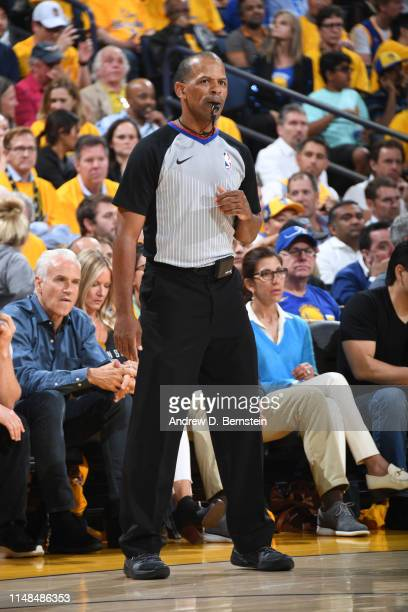 Referee Eric Lewis looks on during Game Four of the NBA Finals on June 7 2019 at ORACLE Arena in Oakland California NOTE TO USER User expressly...