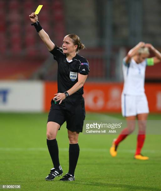 Referee Esther Staubli during the UEFA Women's Euro 2017 match between England and Scotland at Stadion Galgenwaard on July 19 2017 in Utrecht...