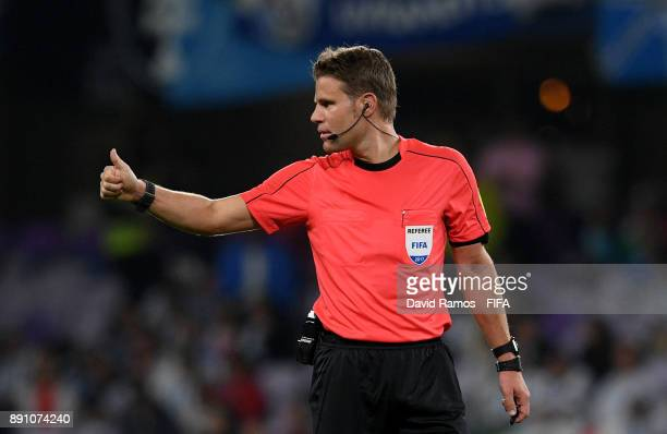 Referee Felix Brych during the FIFA Club World Cup UAE 2017 semifinal match between Gremio FBPA and CF Pachuca on December 12 2017 at the Hazza bin...