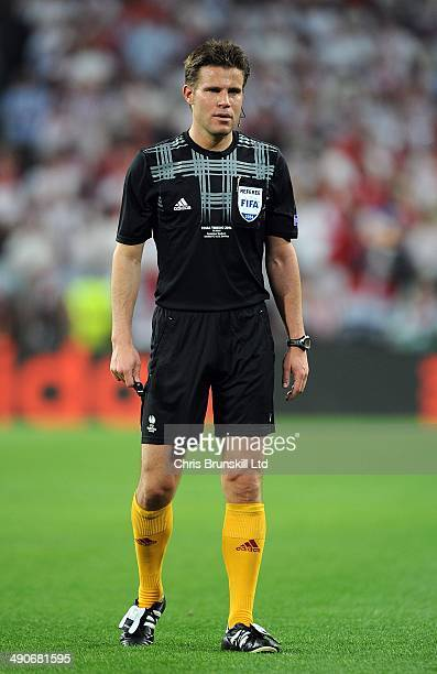 Referee Felix Brych looks on during the UEFA Europa League Final match between Sevilla FC and SL Benfica at Juventus Stadium on May 14 2014 in Turin...