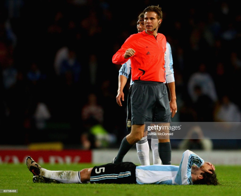Referee Felix Brych of Germany looks on during the International Friendly match between Scotland and Argentina at Hampden Park on November 19, 2008 in Glasgow, Scotland.