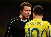 kiev ukraine referee felix brych talks