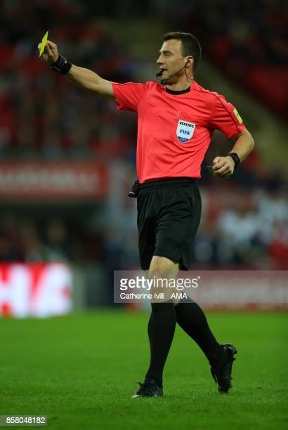 Referee Felix Zwayer during the FIFA 2018 World Cup Qualifier between England and Slovenia at Wembley Stadium on October 5 2017 in London England