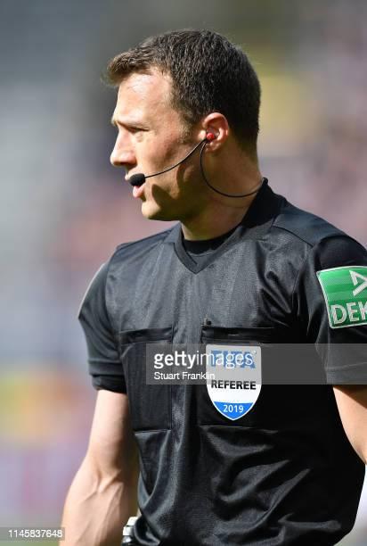 Referee Felix Zwayer looks on during the Bundesliga match between Borussia Dortmund and FC Schalke 04 at Signal Iduna Park on April 27 2019 in...