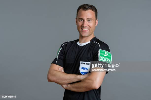 Referee Felix Zwayer poses during the DFB referee team presentation on July 5 2017 in Grassau Germany
