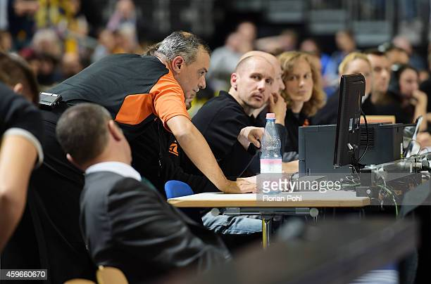 Referee Fernando Rocha during the Turkish Airlines Euroleague Basketball Regular Season round 7 game between Alba Berlin and Unicaja Malaga at O2...