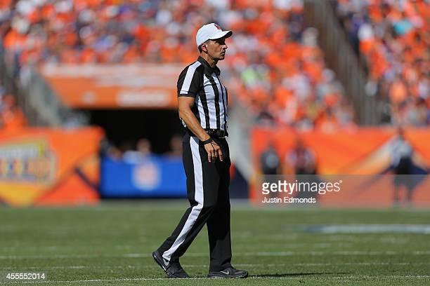 Referee Gene Steratore in action during a game between the Kansas City Chiefs and Denver Broncos at Sports Authority Field at Mile High on September...