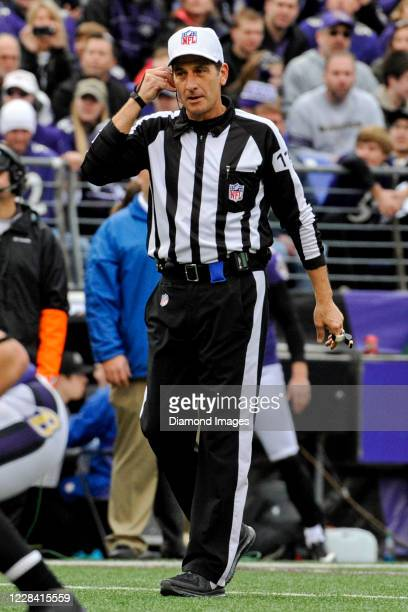 Referee Gene Steratore on the field in the first quarter of a game against the Cleveland Browns and Baltimore Ravens at M&T Bank Stadium on December...