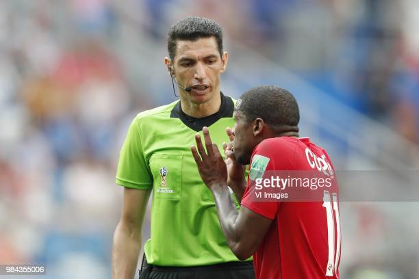referee Ghead Grisha Armando Cooper of Panama during the 2018 FIFA World Cup Russia group G match between England and Panama at the Nizhny Novgorod...
