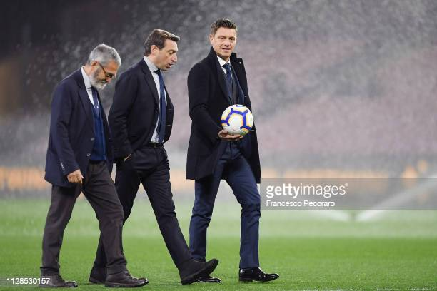 Referee Gianluca Rocchi ahead of the Serie A match between SSC Napoli and Juventus at Stadio San Paolo on March 3 2019 in Naples Italy
