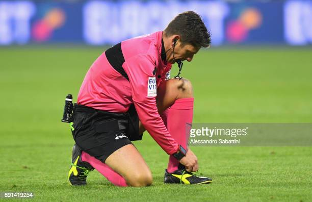 referee Gianluca Rocchi during the Serie A match between Spal and Hellas Verona FC at Stadio Paolo Mazza on December 10 2017 in Ferrara Italy