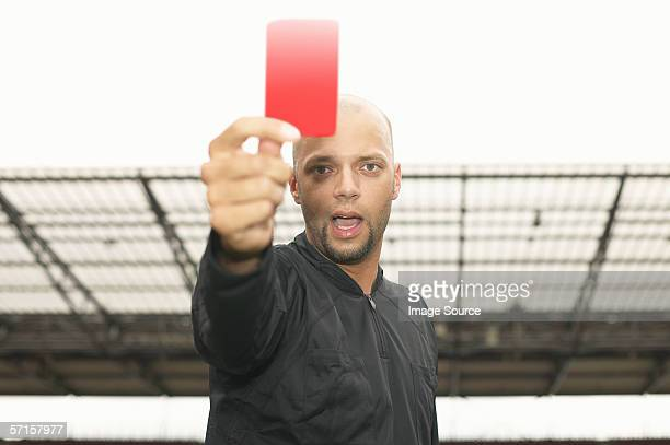referee giving red card - red card stock pictures, royalty-free photos & images