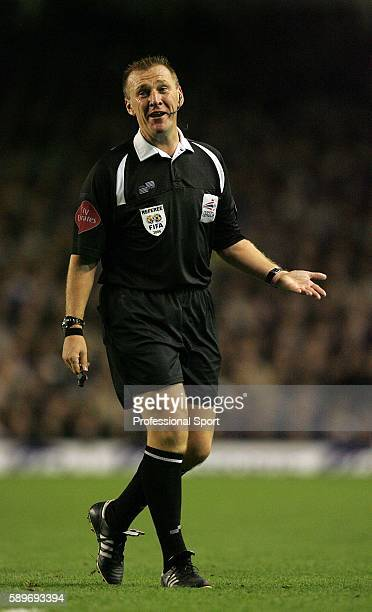 Referee Graham Poll in action during the Carling Cup 4th round match between Everton and Arsenal at Goodison Park on November 8 2006 in Liverpool...