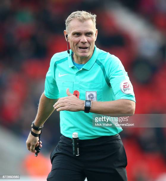 DONCASTER ENGLAND NOVEMBER Referee Graham Scott during the Sky Bet League One match between Doncaster Rovers and Walsall at Keepmoat Stadium on...