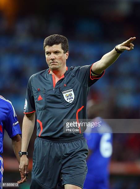 Referee Herbert Fandel of Germany is pictured during the UEFA EURO 2008 Group C match between Netherlands and France at Stade de Suisse Wankdorf on...