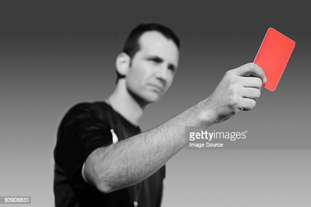 Schiedsrichter, die rote Karte
