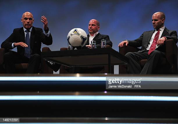 Referee Howard Webb Jonathan Tobin Doctor of Bolton Football Club and Craig Hulse amature football player Kansas City USA talk about Prevention of...