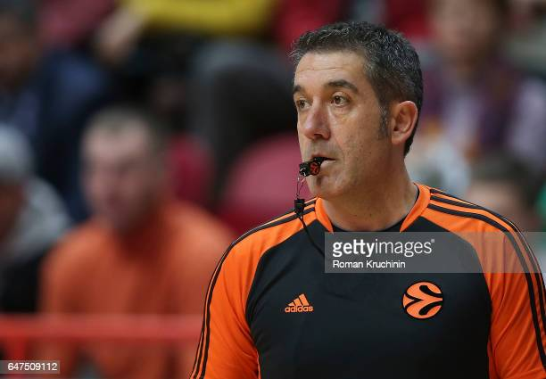 Referee in action during the 2016/2017 Turkish Airlines EuroLeague Regular Season Round 24 game between Unics Kazan v Anadolu Efes Istanbul at Basket...