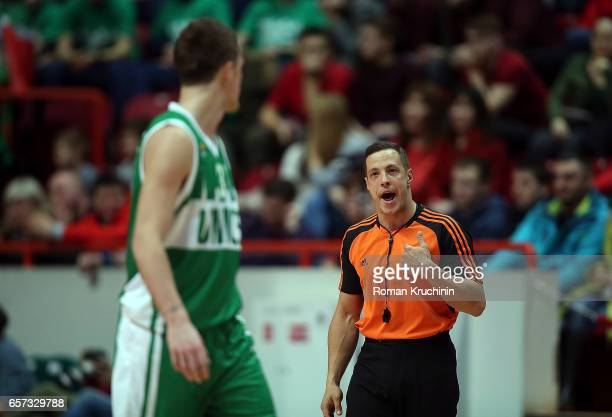 Referee in action during the 2016/2017 Turkish Airlines EuroLeague Regular Season Round 28 game between Unics Kazan v CSKA Moscow at Basket Hall...
