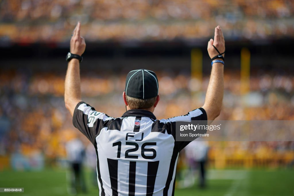 American Football Referee Touchdown Cartoon Royalty-Free Stock ...