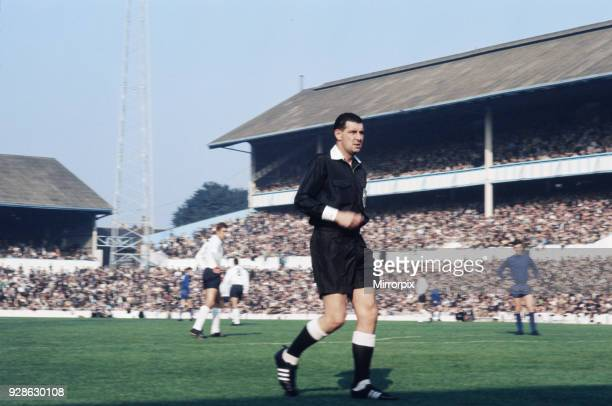 Referee Jack Taylor taking charge of an English league division one match 1970