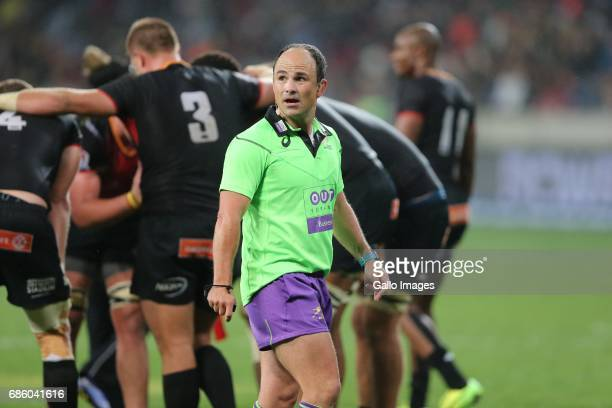 Referee Jaco Peyper during the Super Rugby match between Southern Kings and Brumbies at Nelson Mandela Bay Stadium on May 20 2017 in Port Elizabeth...