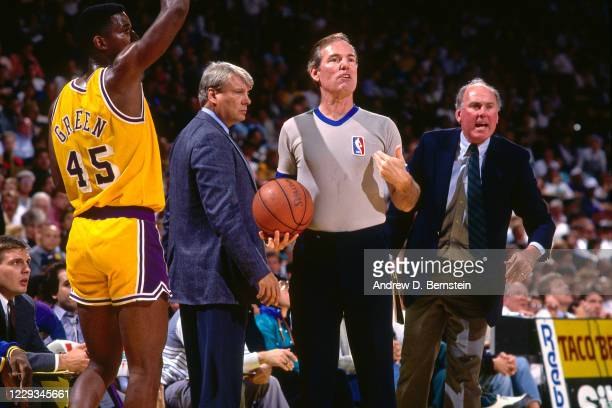 NBA referee Jake O'Donnell during a game at The Forum in Los Angeles California NOTE TO USER User expressly acknowledges and agrees that by...