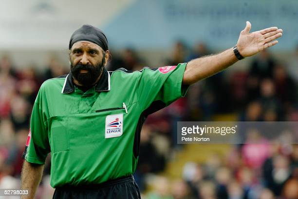 Referee Jarnail Singh during the Coca Cola League Two match between Northampton Town and Lincoln City held at Sixfields Stadium, Northampton on April...