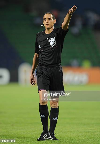 Referee Jedidi Slim of Tunisia during the 2012 African Cup of Nations Group D match between Mali and Guinea at Franceville Stadium in Franceville...