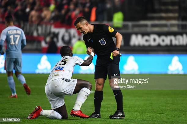 Referee Jerome Miguelgorry during the Ligue 1 match between Amiens SC and AS Monaco at Stade de la Licorne on November 17 2017 in Amiens