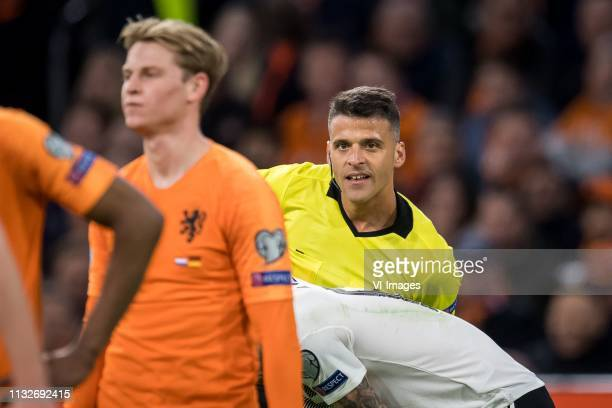 referee Jesus Gil Manzano during the UEFA EURO 2020 qualifier group C qualifying match between The Netherlands and Germany at the Johan Cruijff Arena...