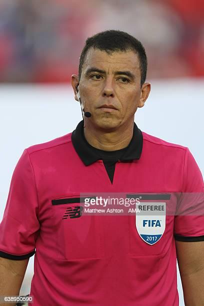 FIFA referee Joel Aguilar from El Salvador during the Copa Centroamericana 2017 tournament between Panama and Nicaragua at Estadio Rommel Fernandez...