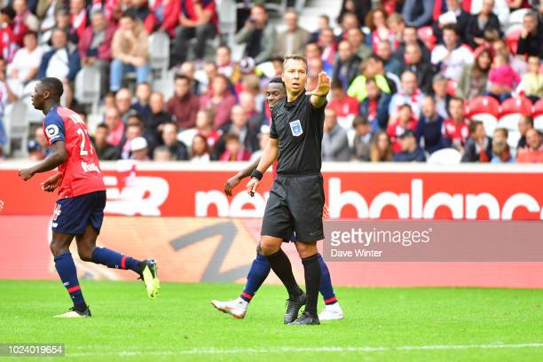 Referee Johan Hamel during the Ligue 1 match between Lille and Guingamp on August 26, 2018 in Lille, France.