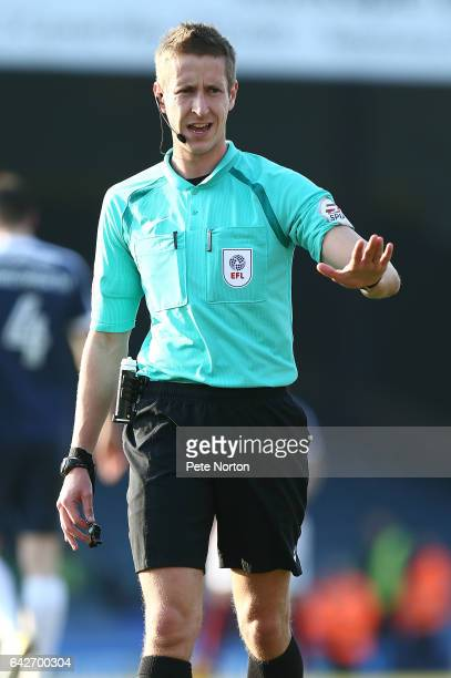 Referee John Brooks in action during the Sky Bet League One match between Southend United and Northampton Town at Roots Hall on February 18 2017 in...