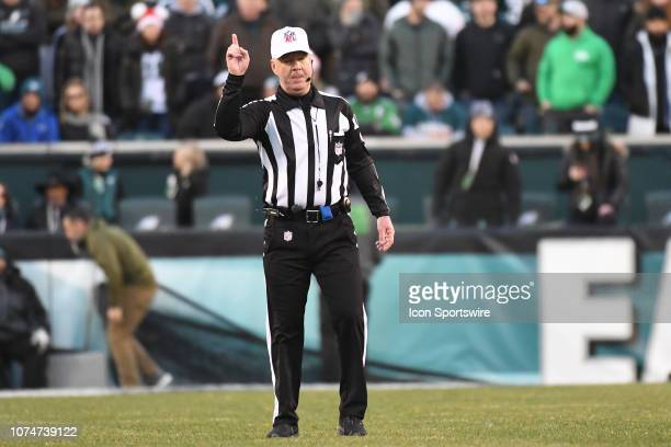 Referee John Parry makes an unpopular call during the game between the Houston Texans and the Philadelphia Eagles on December 23 at Lincoln Financial...