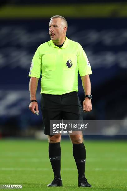 Referee Jonathan Moss looks on during the Premier League match between West Bromwich Albion and Chelsea at The Hawthorns on September 26 2020 in West...