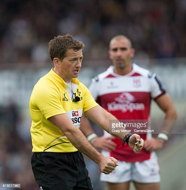 Referee JP Doyle during the European Rugby Champions Cup Pool 5 match between BordeauxBegles and Ulster Rugby on October 16 2016 at Stade...
